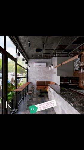 مقاول- تصميم- تنفيذ- مطاعم- كافيهات- محلات تج
